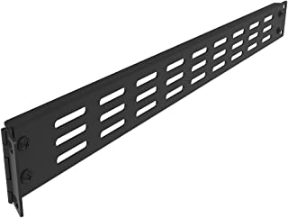 Jingchengmei 1U Hinged Blank Rackmount Panel Spacer - Disassembled Metal Vented Blank Panel for 19 Inches Server Rack or N...