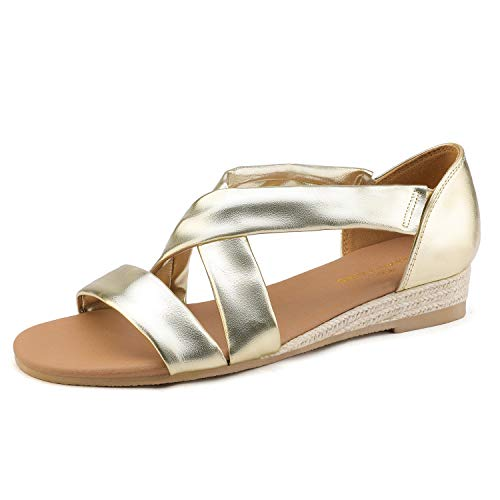 05 Gold Women Sandal - 8