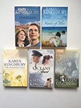 Karen Kingsbury (Set of 5) Unlocked; Shades of Blue; Like Dandelion Dust; Oceans Apart; When Joy Came...