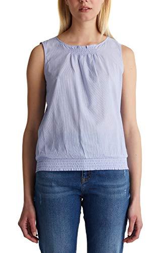 edc by ESPRIT Damen 040CC1F321 Bluse, 440/LIGHT Blue, L