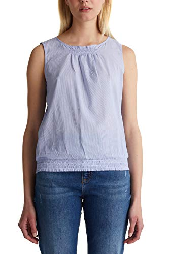 edc by ESPRIT Damen 040CC1F321 Bluse, 440/LIGHT Blue, L