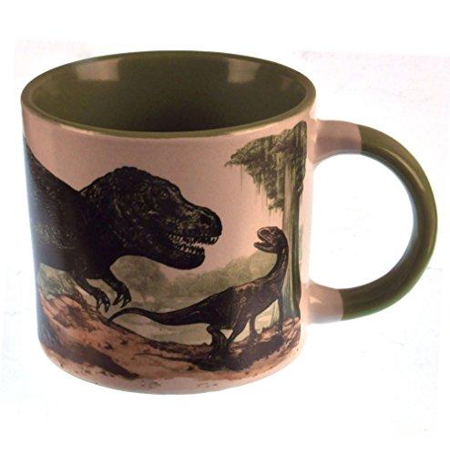Taza de Cafe Dinosaurio Desaparece Con Calor, color Verde