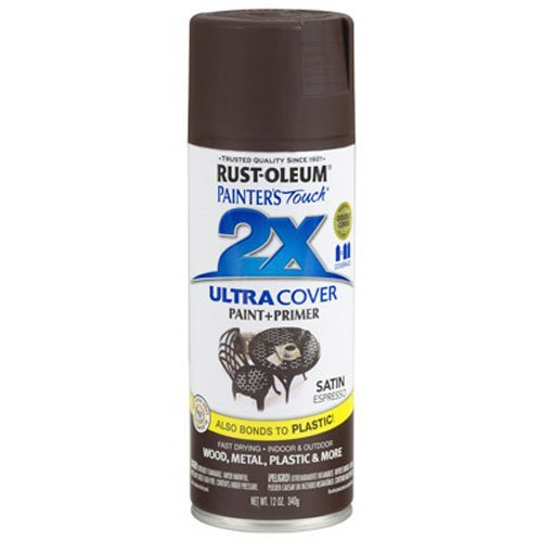 Rust-Oleum 249081 Painter's Touch 2X Ultra Cover, 12 Oz, Espresso
