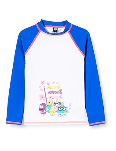 ARENA - Camiseta de Manga Larga AWT para niña con protección UV Anti, Multicolor, FR: M (Talla del Fabricante: 6-7)