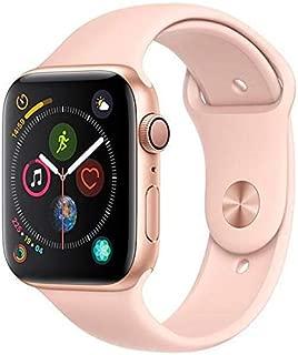 Apple Watch Series 4, 44 mm, Alumínio Dourado, Pulseira Esportiva Rosa e Fecho Clássico - Mu6f2bz/a