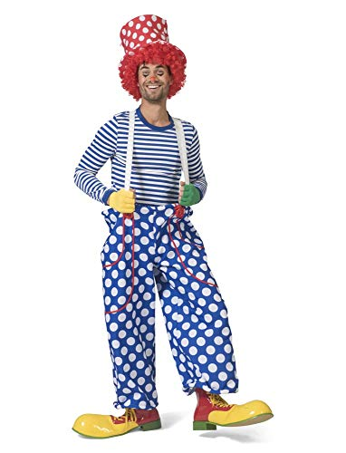 Funny Fashion Clownhose Herrenkostüm Clown Punkte Hose Zirkus Herren Kostüm