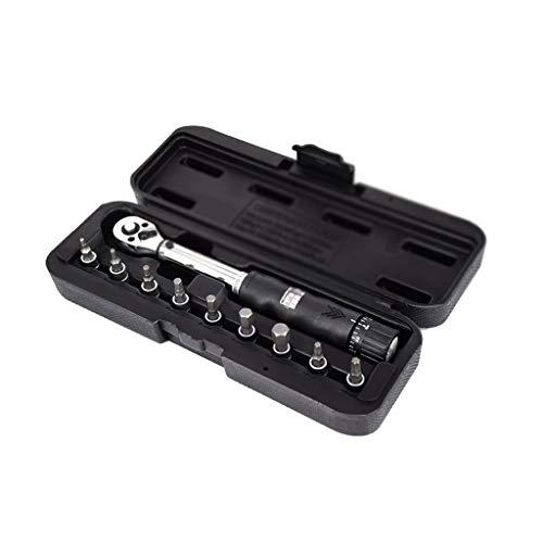 DDMYF Juego de llaves dinamométricas industriales de alta precisión de 1 4 pulgadas 2-24 Nm para bicicletas de reparación de bicicletas, llaves manuales (color: A)