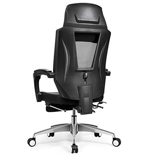 mfavour Ergonomischer Bürostuhl mit hoher Rückenlehne und Fußstütze