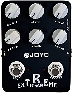 JOYO JF-17 Extreme Metal Pedal Effect Distortion Pedal with 3-Band EQ and Low & High-gain Pedal for Electric Guitar Bypass