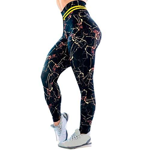 hahashop2 Damen Sport Leggings Yogahose Leggins Hoher Bund Sporthose Blickdicht Leggings Fitnesshose Die beiläufige Marmor-Digitaldruckhohe Taille der Frauen trägt Yogahosen zur Schau
