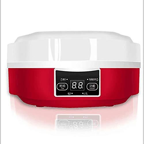 CHYE 220V Joghurt-Maschine, elektrische automatische Joghurt-Hersteller Smart-Touchs Bildschirm DIY Joghurt-Maschine mit Timer 7 Glass Jars Werkzeugcontainer (rot)