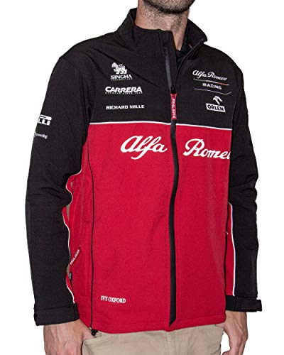 Alfa Romeo Racing Team Sauber Motorsport Race Technical Veste softshell pour homme XXL Rouge/noir/blanc.