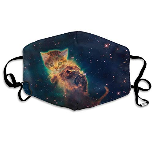 Galaxy Cat Unisex-Gesichtsmaske, Rundumschutz, UV-Schutz, Halstuch