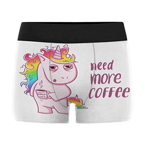 InterestPrint Custom Funny Cartoon Unicorn Boxer Briefs Underwear for Mens Juniors Yoth Boys XL