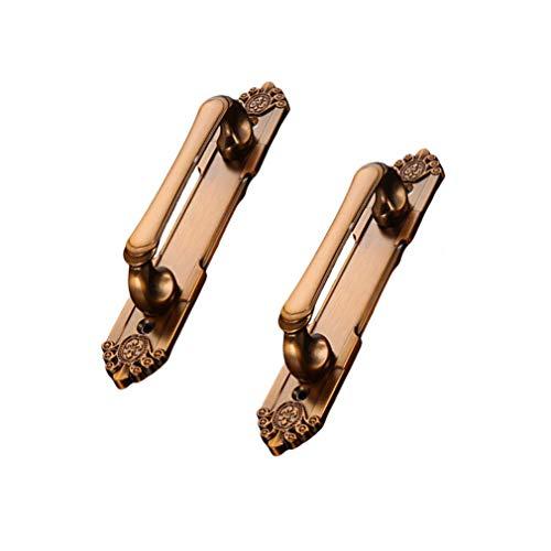 WENYAO Möbelgriffe Oberflächenmontierte Schiebetür Holztür Öffnen des Türgriffs Möbelbeschläge Schrank Schublade Schlafzimmer Kleiderschrank Türgriff 2St. Mit Schrauben