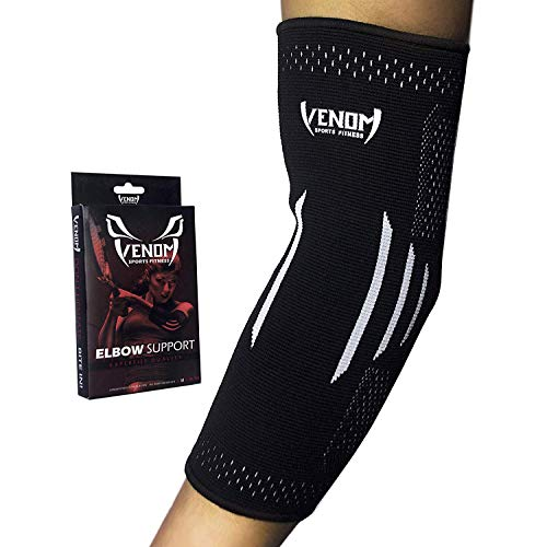 Venom Elbow Brace Compression Sleeve - Elastic Support, Tendonitis Pain, Tennis Elbow, Golfer's...