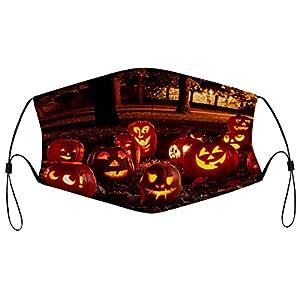 Decorazioni di Halloween lavabili in panno per il viso maschere riutilizzabili copertura antipolvere protezione unisex copertura della bocca traspirante grande maschera per uomini donne all'aperto 5PCS