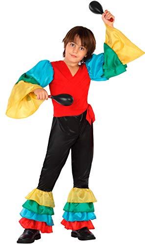 ATOSA disfraz rumbero niño infantil multicolor 10 a 12 años