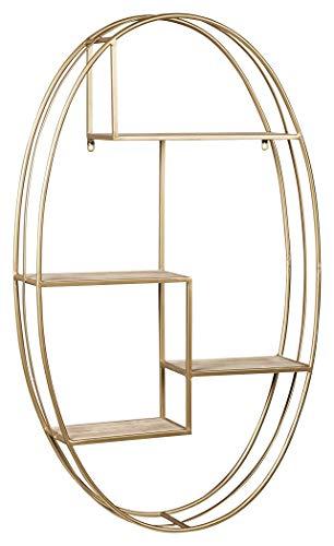 Ashley Furniture Signature Design - Elettra Modern Wall Shelf - Contemporary Chic - Natural/Gold Finish