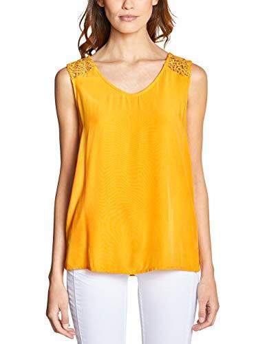 Street One 341461 Blusa, Amarillo (Bright Clementine 11804), 38 (Talla del Fabricante: 36) para Mujer