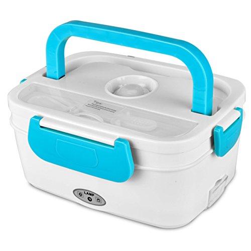 NANXCYR Automatische elektrische verwarming lunchbox maaltijden verwarming voor auto plug-in draagbare eetwarmer aparte afneembare isolatiebox 1L, 110/220 V