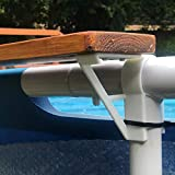 3DCabin 2 X Swimming Pool Shelf Brackets Suits 45Mm Top Rail / 35Mm Uprights (Designed to Fit On Intex Pools