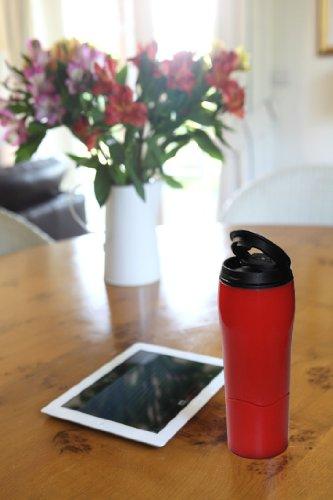 Mighty Mug Go - The Travel Mug That Won't Fall Over (0.47 Litre), Grey