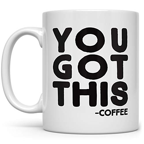 You Got This Funny Coffee Mug, Gift for Coworker Friend Boss, Motivational Inspirational Fun Cup