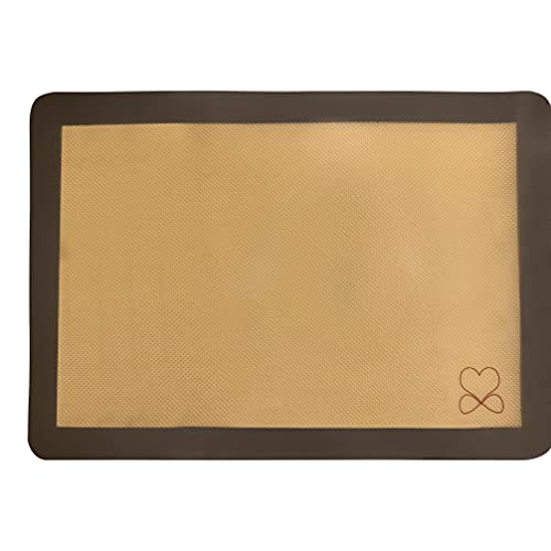 silicone baking mat - sheet BPA free - thick and reusable - heat resistant and oven safe for general pastry such as cookies, macaroons, macaron, pies and more.