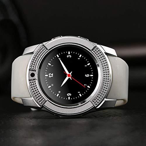 Nrew Orologio da Polso da Uomo con contapassi smartwatch per Fotocamera da Uomo Impermeabile Portatile Rosso