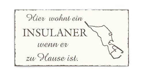TÜRSCHILD Dekoschild « HELGOLAND » Vintage Holzschild Schild Nordsee Urlaub Ferien