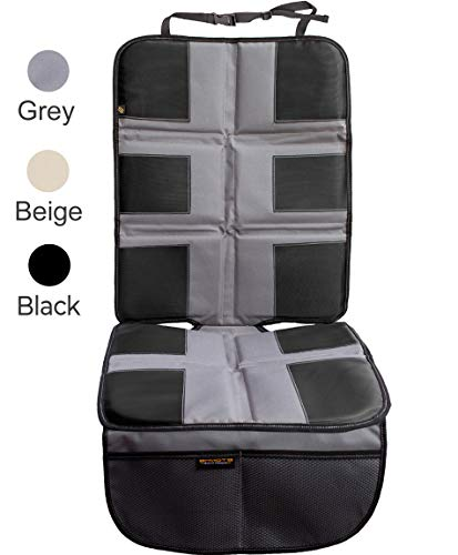 Shmidt'S Car Seat Protector - Luxury Car Seat Cover Summer/Winter for Baby & Child - Anti-Slip, Heavy Duty Car Seat Mat Protector for Infants W/Upholstery, Gray/Grey