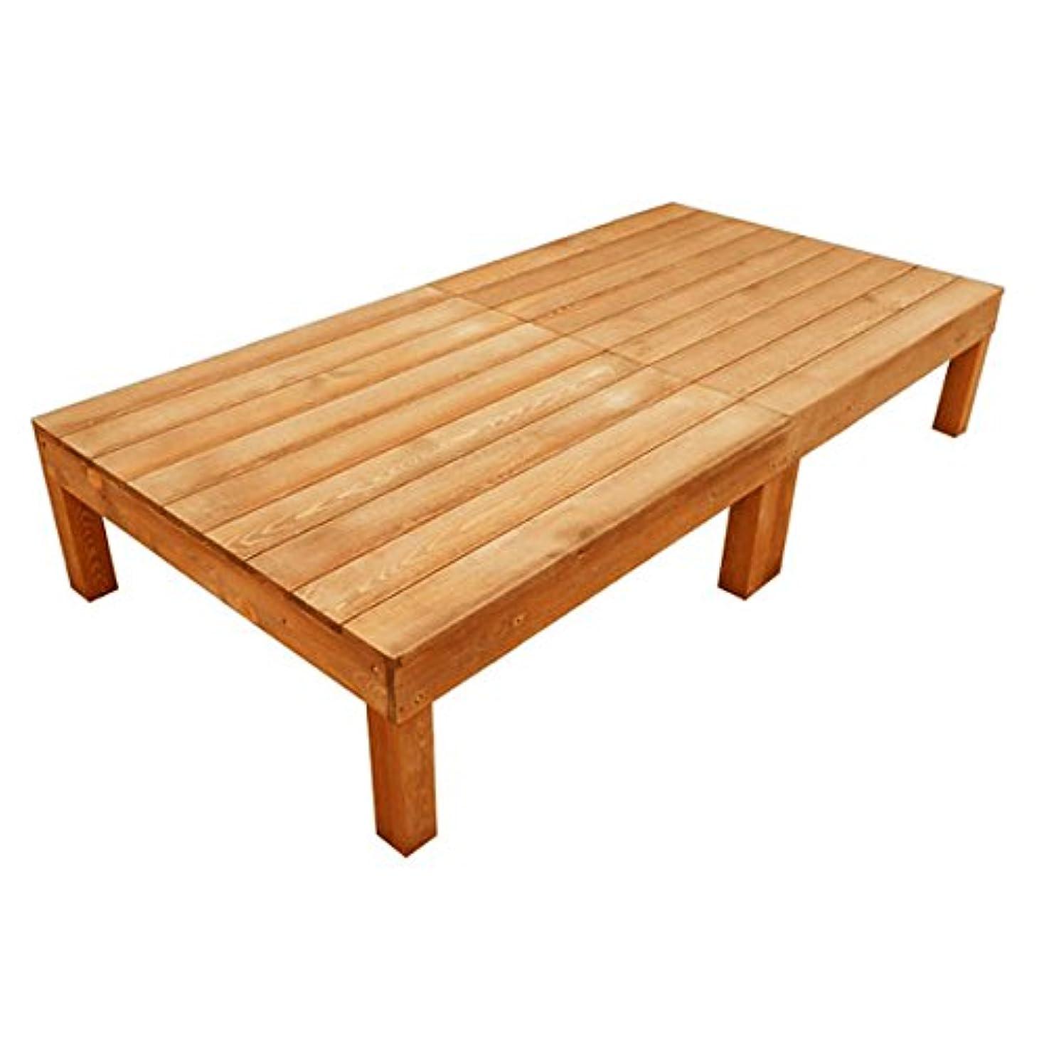 カレッジ選択する重要性igarden アイガーデン ウッドデッキ2点セット ブラウン アイガーデンオリジナル天然木製ウッドデッキ、ウッドデッキセット、木製デッキ、縁台