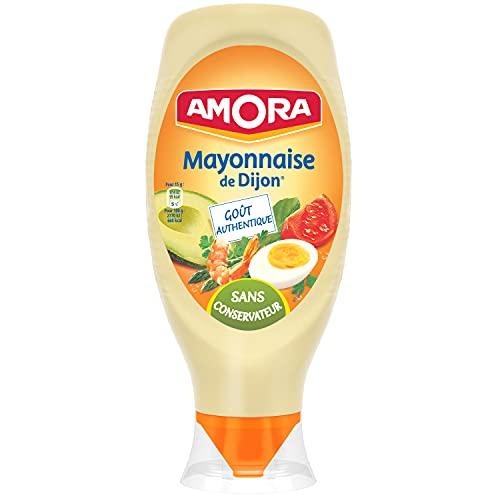 Amora Mayonnaise De Dijon Flacon Souple, œufs 100% français de poules élevées en plein air, 710g
