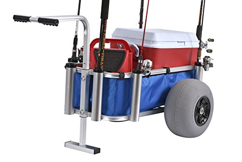 """Muscle Carts HDBC-Blue Fish and Marine Cart, 27"""" Height, 40"""