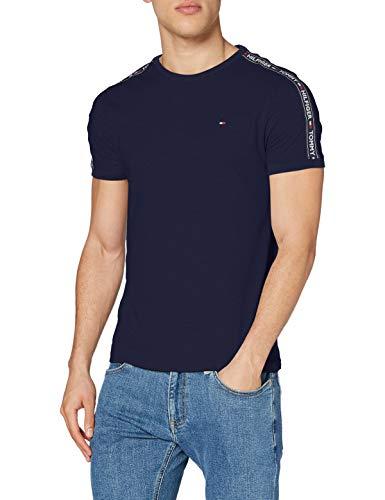 Tommy Hilfiger RN tee SS Camiseta, Azul (Navy Blazer 416), Large para Hombre