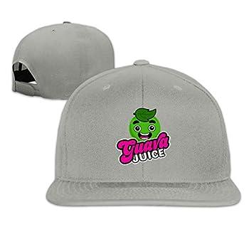 Patrick R Garrett Fashion Unisex Guava-Juice Flat Baseball Hat for Men Women Cap Sport Hats Gray