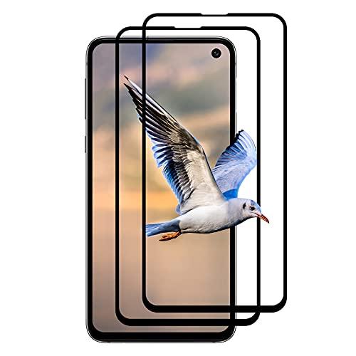 (2 Stück) Panzerglas für Samsung Galaxy S10E, Anti-Kratzen Schutzfolie, Anti-Fingabdrücken Glasfolie, 9H Panzerglasfolie, HD Displayschutzfolie für Samsung Galaxy S10E (Schwarz)