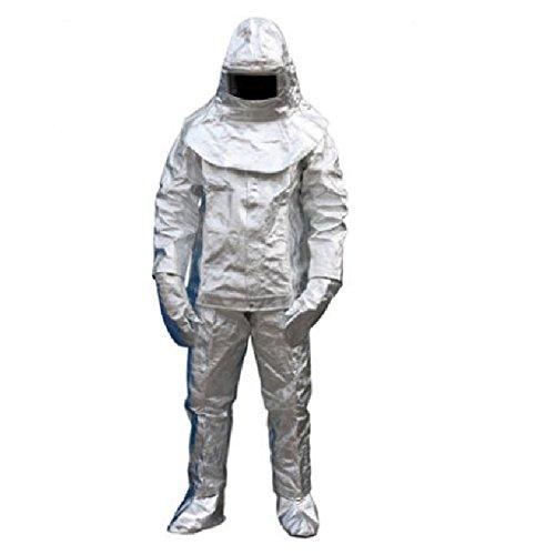 Thermische Strahlung 500 Grad Hitzebeständiger aluminisierter Anzug Feuerfeste Kleidung