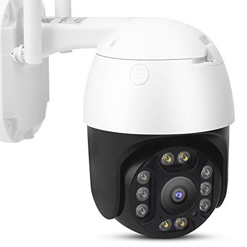 Cámara inteligente, cámara HD 1080P, cámara Wifi Ptz, monitor impermeable Ip66, monitor de seguridad de visión nocturna por infrarrojos, con manual de usuario, adecuado para la oficina del ho(white)