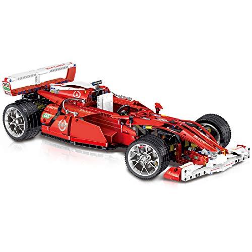 PEXL Technik Formel F1 Rally Auto 1:10 Bausteine Modellbausatz 1275 Klemmbausteine Kompatibel mit Klassik Stein aus Dänische