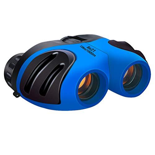 Aoneky - Prismáticos de Goma compactos para niños (8 x 21 cm, niños de 3 a 11 años), Color Azul
