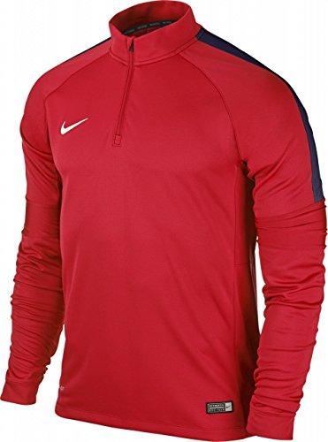 Nike Herren Sweatshirt Ignite Squad 15, Crimson/Obsidian/White, L