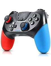 Gezimetie Mando para Nintendo Switch, Mando Pro Controller Mando pc Inalambrico con Función Gyro Axis/Dual Shock y Turbo Compatible con Nintendo Switch