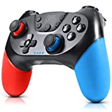 Gezimetie Controller per Nintendo Switch, Wireless Bluetooth Switch Pro Controller, Switch Joystick Gamepad con Turbo Regolabile Dual Shock …