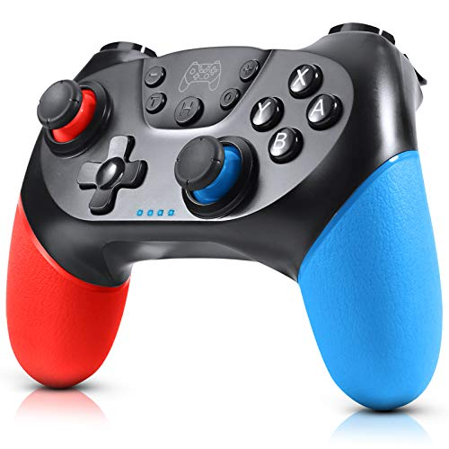 Gezimetie Controller per Nintendo Switch, Wireless Bluetooth Switch Pro Controller, Switch Joystick Gamepad con Turbo Regolabile Dual Shock Gyro