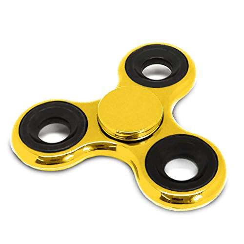 Spinners Chromed Finger Toy Stress Reducer Fidget Spinner, Gold