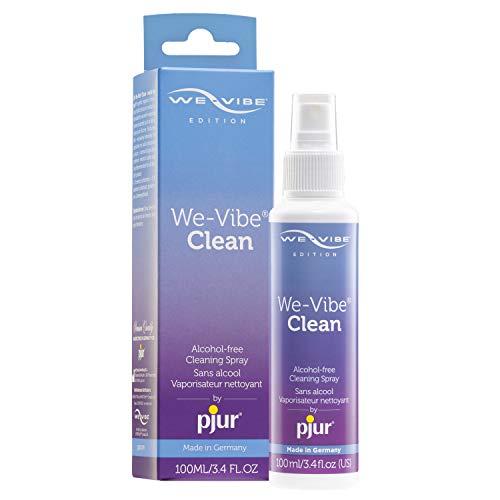 We-Vibe Clean - made by pjur - Espray de limpieza especial para juguetes We-Vibe - limpieza higiénica sin alcohol ni perfume - pack de 1 (1x100ml)