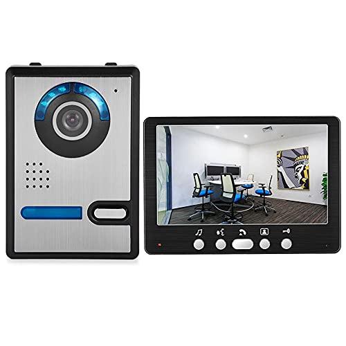 OUYA Monitor LCD De 7 Pulgadas Sistema De Intercomunicación con Timbre De Video, con Monitoreo, Intercomunicador, Desbloqueo, Manos Libres, Función De Selección De Tonos De Llamada