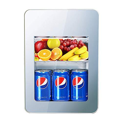 JLKDF Mini refrigerador de 22 l, silencioso, refrigerador para Acampar, 12 V, minibar, refrigerador Retro con Puerta de Vidrio, refrigerador para Bebidas, pequeña Pantalla Digital de DOB